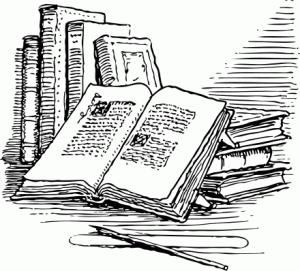 Books, a public domain image