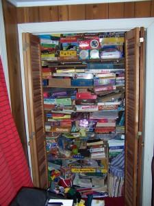 'Game closet' by lkbm on Flickr