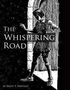 The Whispering Road black-and-white cover