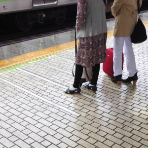 Tile floor, Japanese train station