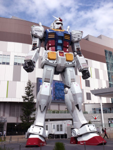 The life-size Gundam statue