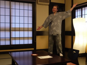 Me in my Ryokan in Kakunodate